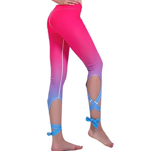nonbranded Pantaloni leggings da donna sport fasciatura yoga danza quotidiana outdoor moda fasciatura design pantaloni yoga rosso XL