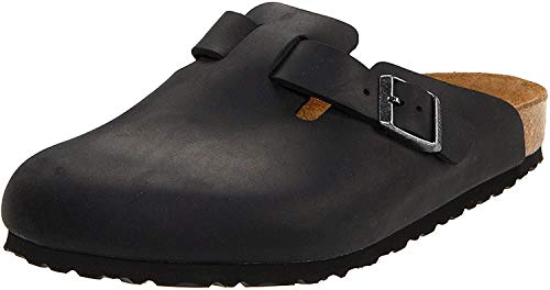Birkenstock - Boston Unisex - adulto, Nero (Black), 41