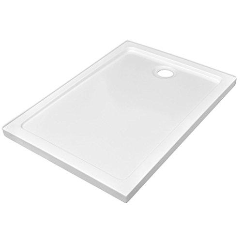 Festnight Plato de Ducha Rectangular de ABS Color Blanco 70 x 100 cm