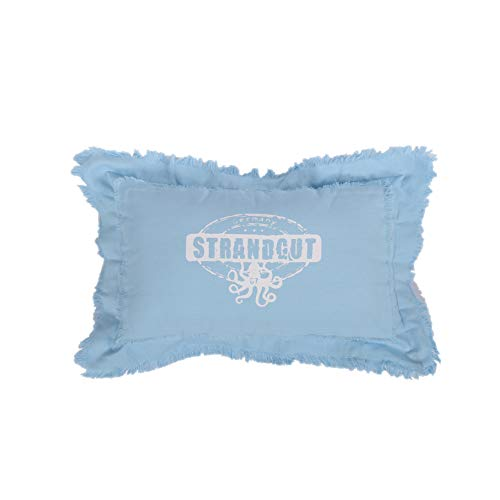 Strandgut07 Kissen mit Reißverschluss, 50 x 30cm, Hellblau