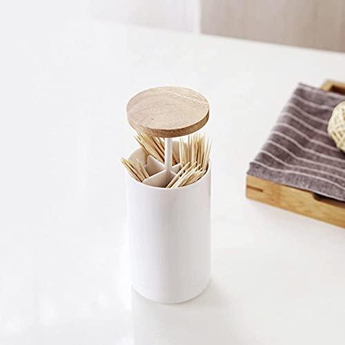 Zahnstocherhalter Spender Wattestäbchen Halter Box Automatischer Pop-Up Holzdeckel Zahnstocherspender Geeignet für Esstische, Restaurants, Küchen und Partys