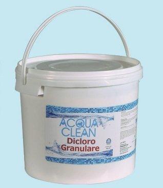 dicloro granuleuse kg. 10 eau Clean pour piscine