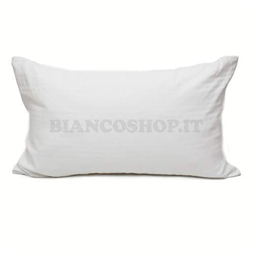 Viscio Trading Casa & Textiles Coppia Federe, 100% Cotone, Bianco, 80x50x0.2 cm, 2 unità