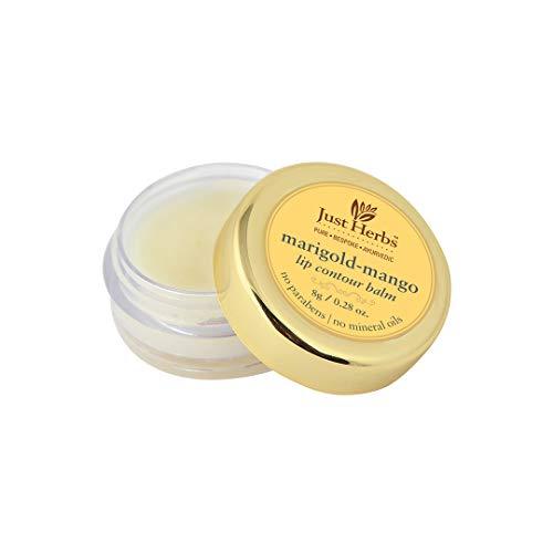Just Herbs Marigold Mango, Natural Lip Balm for Men & Women, Chemical Free - 8 GM