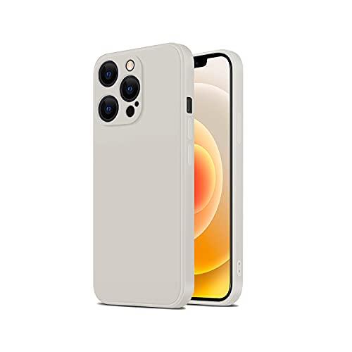 TANAKEY Silikon Hülle Kompatibel mit iPhone 13, Stoßfeste Handy Hülle aus Flüssigem Silikon Kompatibel mit iPhone 13 Pro & iPhone 13 Pro Max (13 Pro (6,1 Zoll), Elfenbein)