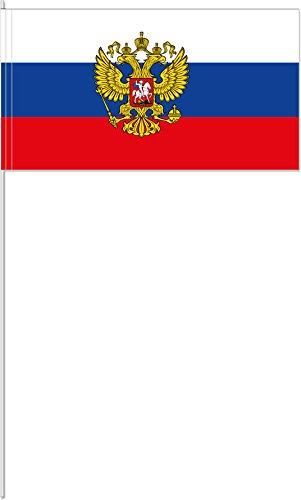 10 Fähnchen * RUSSLAND * als Deko für Mottoparty oder Länder-Party // Russia Flaggen Fahnen Papierfahnen flag