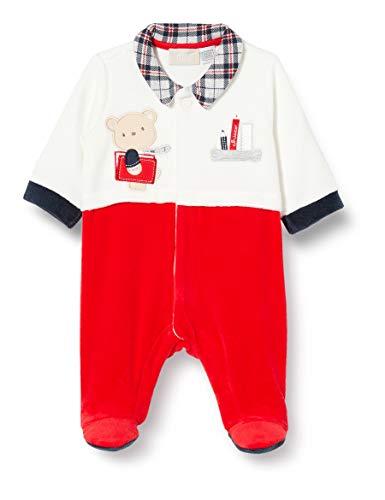 Chicco Tutina con Apertura Frontale Mamelucos para bebés y niños pequeños, Bianco e Rosso, 74
