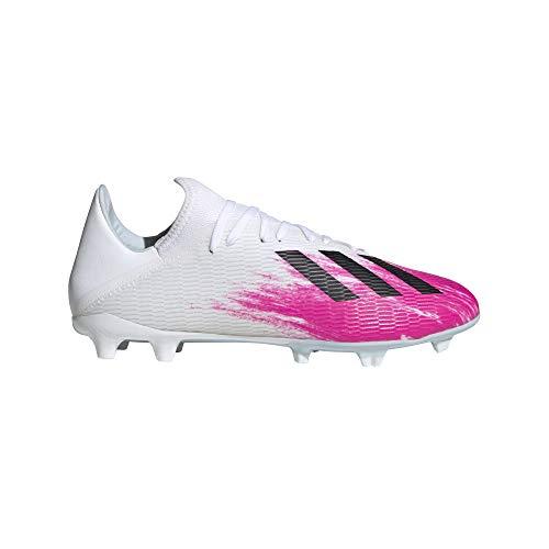 adidas Performance X 19.3 FG Fußballschuh Herren weiß/pink, 9.5 US - 43 1/3 EU - 9 UK