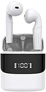 {2021 Nuevo modelo} Auricular Bluetooth Inalambrico 5.0, TWS Audífonos Inalámbricos Bluetooth Deportivos Mini Twins Earphone IPX7 Impermeables Estéreo y Cancelación de Ruido CVC8.0, con estuche de carga, Pantalla LED de Batería, Control Tactil, Micrófonos dual Incorporado, Adecuado para teléfonos iPhone y Android