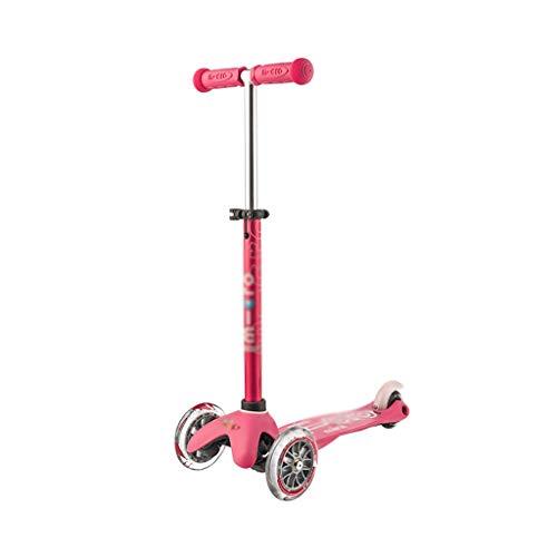 LICHUAN Scooter Patinete de 3 ruedas para niños, Patinete para niños de 2 a 6 años, Scooter para niños y niñas con ruedas iluminadas, Mini Scooter para niños Kick Scooter (Color: Rosa)