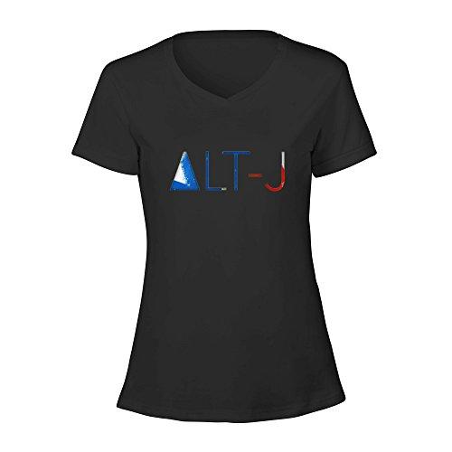 toowest Alt-J–esto es todo tuyo papel pintado cuello en V Tee camiseta algodón