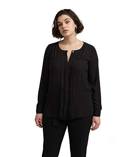 Fiorella Rubino : Camicia Tinta Unita Nero 46 (37) Donna (Plus Size)