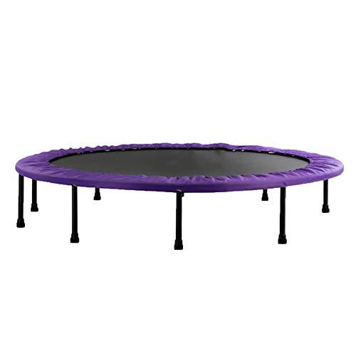TKHHC Trampolín Plegable Trampolín Cama Elástica para Niños Adultos Trampolín Fitness para Interior al Aire Libre, Peso Máximo 120 Kg,Purple