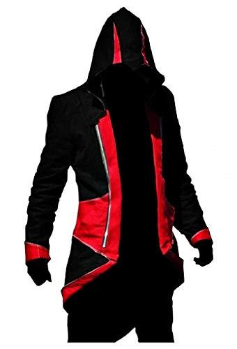 EVRYLON Jacke glauben an den mörder Karneval schwarz und rot Mann größe XXXL Cosplay