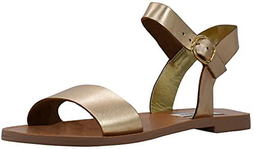 Steve Madden Women's Donddi Gold Flat Sandal 7 M US