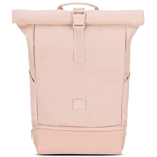 Johnny Urban Rolltop Rucksack Damen Rosa ALLEN, Roll Top Backpack für Schule, Uni, Arbeit, Laptop Fach 15,6 Zoll, Wasserabweisend