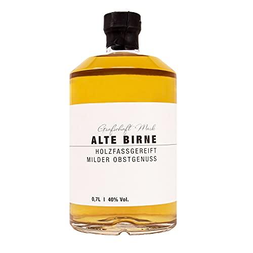 Grafschaft Mark Alte Birne Schnaps 1 x 0,7 L | 40% vol. Alkohol | milder, holzfassgelagerter Obstbrand aus Deutschland | fein fruchtiges Aroma von Birnen | hochwertige Spirituose