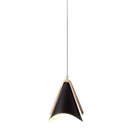 EASTYY Macaron trípode de una sola cabeza luz colgante de madera moderna minimalista pequeña lámpara de cabecera del estilo europeo de la personalidad creativa de la lámpara Restaurante Bar Oficina al