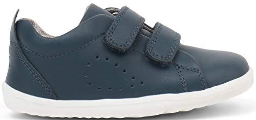 Bobux - Scarpe sportive in pelle per bambini, modello Step Up Grass Court Trainer_Primeros Pasos Blu Size: 22 EU