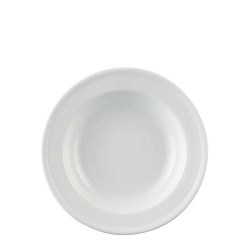 Thomas' Assiette Creuse Trend, Assiette à Soupe Pâtes, avec Bord Ourlé, Porcelaine, Blanc, Compatible Lave-Vaisselle, 24 cm, 10124