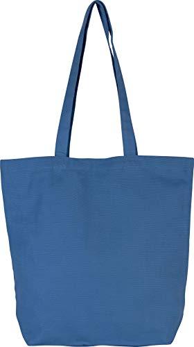 Kimood Sac cabas en coton bio - Dusty Blue, One Size, Homme