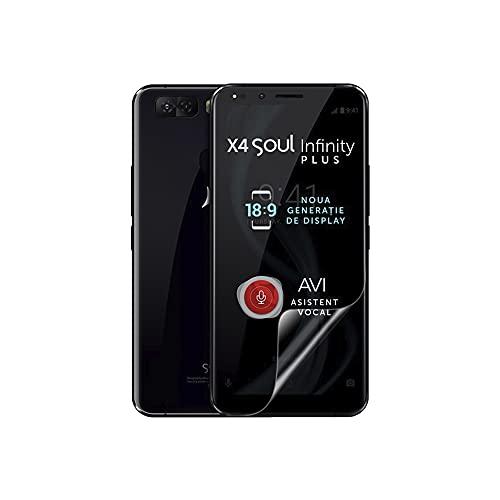 Celicious Vivid unsichtbare, glänzende HD-Schutzfolie, kompatibel mit dem Allview X4 Soul Infinity Plus [2er Pack]