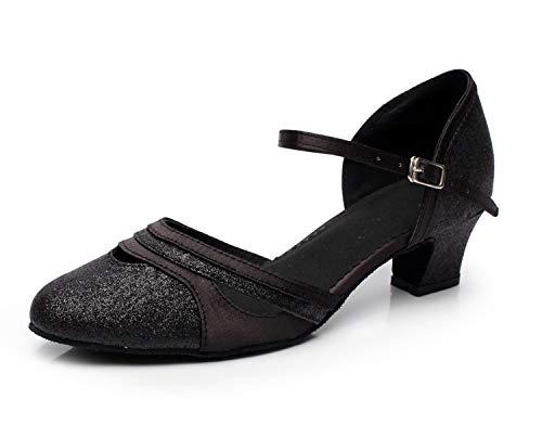 Naudamp Mujer Zapatos De Baile Latino Salón Cómodos Brillo Zapatos De Fiesta De Tango De Salsa Bombas De Boda