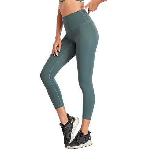 QTJY Pantalones de Yoga sin Costuras para Mujer Leggings con Flexiones Gimnasio Fitness Deportes Correr Cintura Alta Leggings de Entrenamiento energético B XL