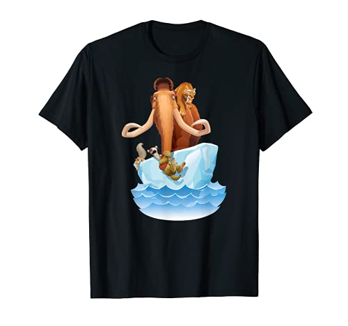 Ice Age Manfred Diego Sid and Scrat on Iceberg T-Shirt