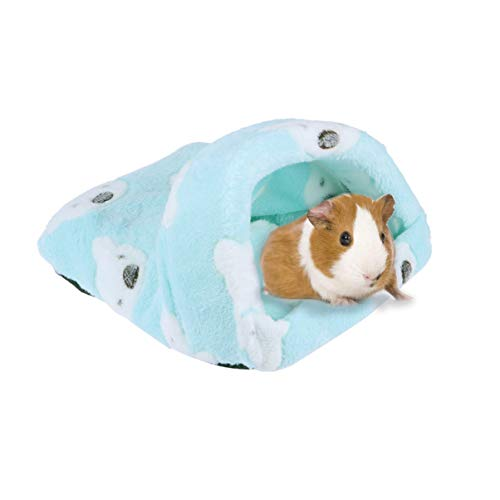 POPETPOP 1 PC Confortable Adorable Chaud Doux Chaud Polaire Pet Cage Sac De Couchage Petit Animal Lit Maison pour Chinchilla Rat Hérisson Cochon Dinde Écureuil