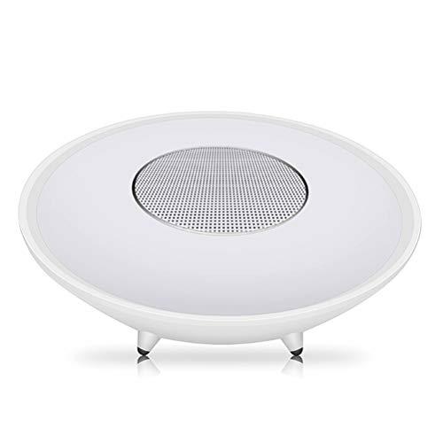 QAR Nachtlicht Subwoofer-Lampe Nachttischlampe Tischlampe Tischlampe des drahtlosen Bluetooth Lautsprechers Bunte LED im Freien Audio