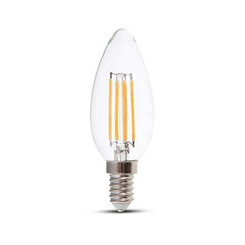 Lampadina LED a Candela 4W E14 A+, Bianco Naturale