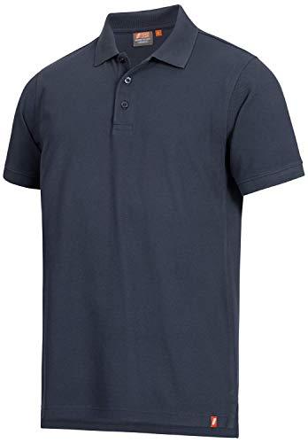 Nitras Motion TEX Light Arbeits-T-Shirt - Kurzarm-Polo-Hemd aus 100{cf2292dddf04897e16a1a2ef9a3111ad6ccfc1b8cee2978afc5e504904b1ec06} Baumwolle - für die Arbeit - Dunkelblau - 2XL