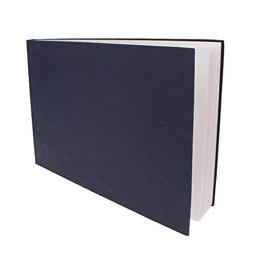Artway Indigo - Handgefertigtes Skizzenbuch (150 g/m²) mit gebundenem Hartcover - A3 Querformat x 1
