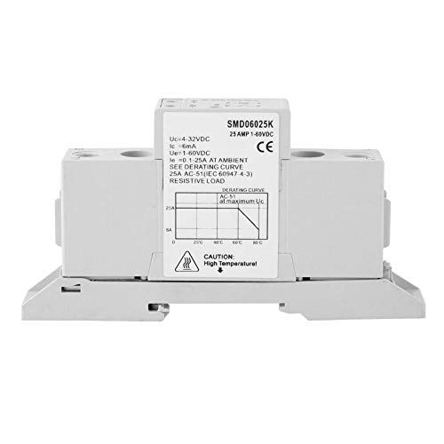 Halfgeleiderrelais, DSMD100015S DC-besturing DC eenfase-DIN-rail Solid State-relaismodule en kaart