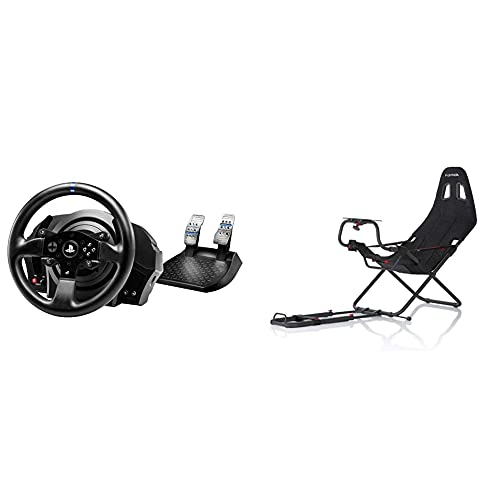 ThrustMaster T300 RS - Volante - PS4 / PS3 / PC - Force Feedback - Motor brushless de Clase Industrial + Playseats Challenge - Silla de Juego para PS 2, PS 3, Xbox, Xbox 360