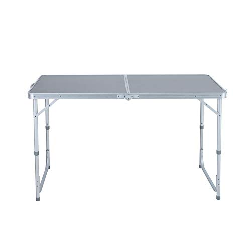 Camping World Folding Camping Picnic Table Adjustable Lightweight Desk Portable Handle, Rust Resistant Table for Outdoor Picnic Beach Backyard