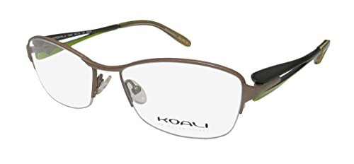 Koali By Morel 7353k For Ladies Women Cat Eye Half-rim Spring Hinges With Silicone Nose Pads Eyeglasses Eye Glasses (52-16-135, Taupe Olive Green)