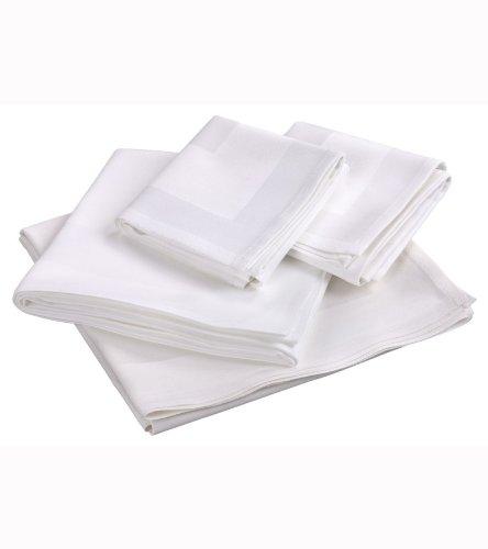 N & K Bielefelder Wassen: voordelige, maar elegante servetten van damast, wit, 50x50, 6-pack