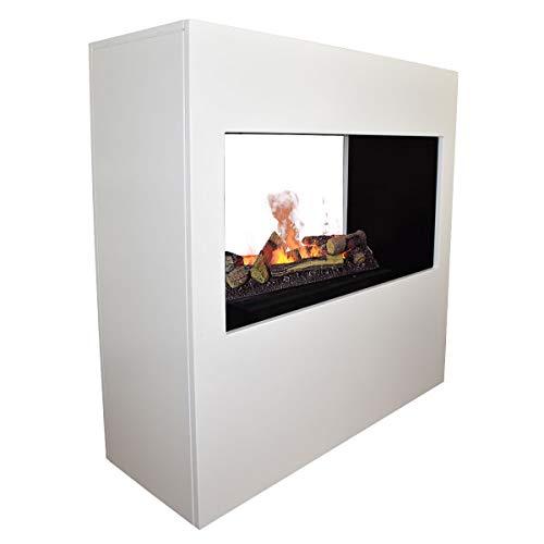 GLOW FIRE Goethe Elektrokamin, 3D Wasserdampf Raumteiler | OMC 600, Holzdeck
