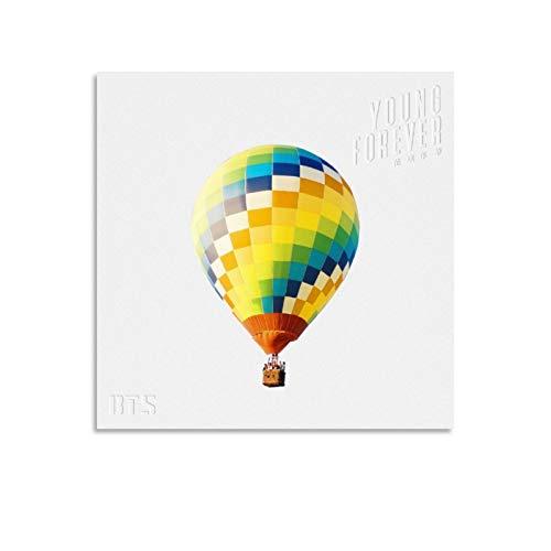 XYDQ BTS Young Forever - Stampa artistica su tela e stampa artistica da parete, 30 x 30 cm