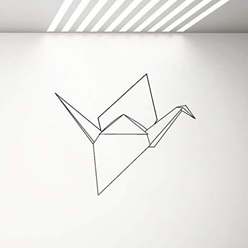 Geometría Formas Vinilo Tatuajes de Pared Pájaro Origami Etiqueta de La Pared Decoración Del Interior Del Hogar Dormitorio Sala de estar Calcomanías de dormitorio 65X57 cm
