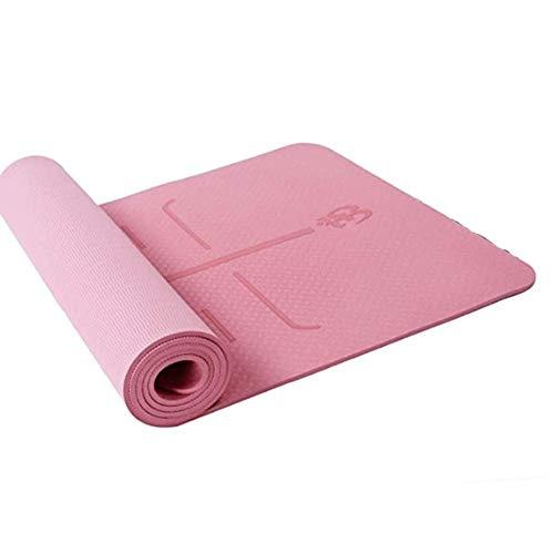 Mosako - Alfombra de yoga de caucho natural, superantideslizante, suave, estable y cómoda, con certificado ecológico SGS,183 x 61 cm, 1 unidad