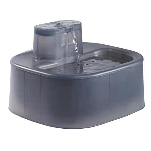 HoneyGuaridan W58 6L Fuente de Agua automática para Perros y Gatos con Sistema de filtración cuádruple, Bomba de Agua Ultra silenciosa, diseñada para Grande Perros