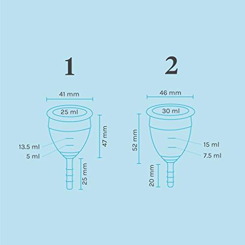 Lunette Menstruationstasse Selene – blau – Modell 2: Für normale bis starke Blutung – Ganz ohne Fadenspiel - 2