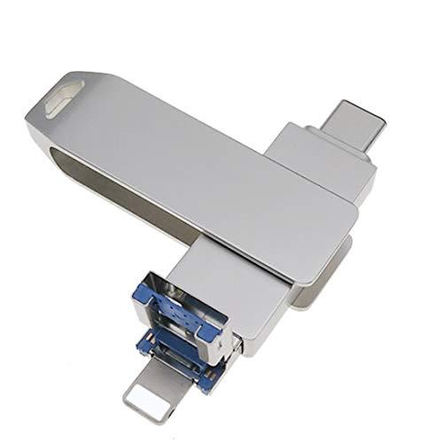 Unidades flash USB 3.0 compatibles con iPhone/iPad/iOS almacenamiento externo 3 en 1...