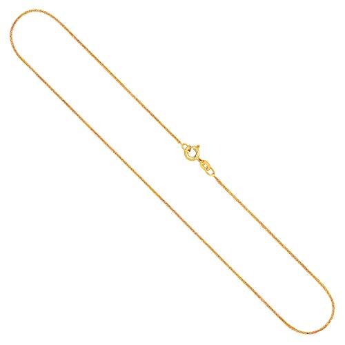 Goldkette, Ankerkette flach Gelbgold 585/14 K, Länge 60 cm, Breite 1.2 mm, Gewicht ca. 2.3 g, NEU