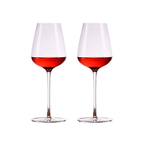 SFF Copas de Vino Copas de Vino Copa de Vino de Cristal Elegante Tambores Exquisitos Vidrio de Vino Tinto 550 Ml / 18.5oz Cristal (Quality : 2)