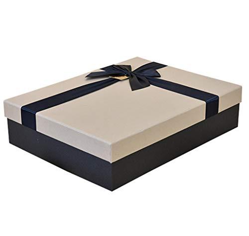 Saint-Valentin Cadeau rectangulaire boîte Carton Vert matériel en Soie Arc décoration pour la fête d'anniversaire (Taille : S(27×20×5cm))