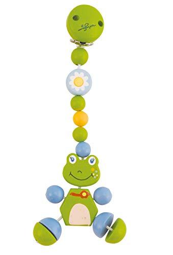 Bieco 44021003 Cliphänger Froggy, Kette aus Holz mit Froggy dem Frosch als Anhänger, grün